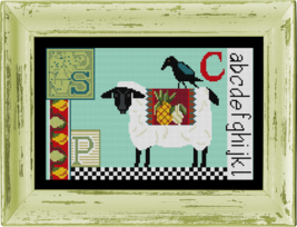 Sheep Crow Sampler Kit cross stitch kit Colonial Needle  - $36.00