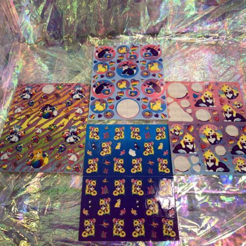 4 Sheets NotFull Lisa Frank Kitties  Fishbowl Balloon Playtime Sunflower Zebra
