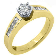 1.2 CARAT WOMENS DIAMOND ENGAGEMENT WEDDING RING ROUND PRINCESS CUT YELL... - £2,516.65 GBP