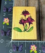 Comotion Fuschia Rubber Stamp Fuchsia Flower Plant 575 1993 #H78  - $7.42