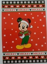 Disney ~ Christmas Mickey Mouse ~ Plush Back ~ Oversized Blanket 60 x 90... - $84.15
