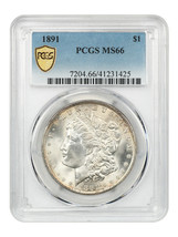 1891 $1 PCGS MS66 - Only One Finer - Morgan Silver Dollar - Only One Finer - $19,885.00