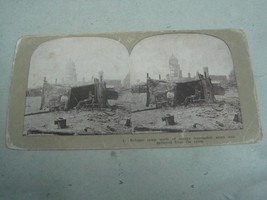 Antique collectable Stereoscope view Refugge camp - $20.33