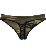 Womens Camo Sexy Panties Woodland Camouflage Underwear Army Military Thong - $8.99