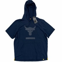 New Under Armour Men's Project Rock Pullover Short Sleeve Hoodie Size XX... - $49.99