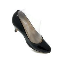 Hush Puppies Black Patent Faux Leather Slip On Comfort Pumps Heels Womens 7 M - $15.79