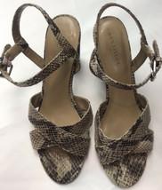 Anne Taylor 8.5 Snakeskin Strappy Sandals Heels Animal Prints - $23.95