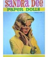 VINTAGE UNCUT 1959 SANDRA DEE PAPER DOLL~8 PAGES CLOTHES~RARE~#1 REPRODU... - $17.50