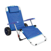 Mac Sports Beach Day Multi-Purpose Lounger and Pull Cart in Blue - $49.49