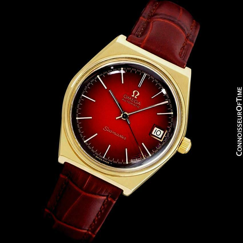 1975 Omega Vintage Seamaster Mens 18K Gold Plated Watch - Mint with Warranty