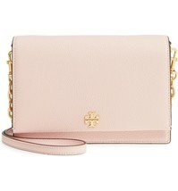 NWT TORY BURCH GEORGIA PEBBLE LEATHER CROSSBODY BAG SHELL PINK - $251.54