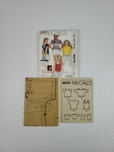 McCall's 9575 Brook Shields Collection Girls Size Large Tops 4 Designs U... - $18.99