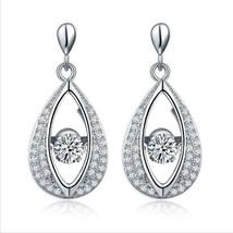 3.00 Carats Dancing Diamond Dangle Earrings - $129.00