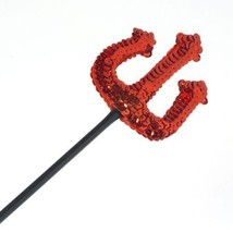 Halloween Costume Sequin Pitch Fork Red Black Handle Gift For Men And Women - $13.99