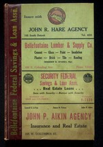 Polk's 1952-53 Bellefontaine Ohio City Directory With Classified & Buyer... - $17.05