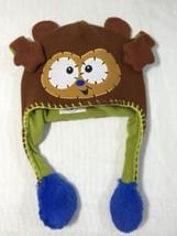 Flipeez Hat Monkey Children Kids Winter Cap Animal Shape Head Warmer Brown - $14.70