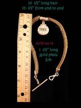 Antique Watch chain - Vintage Victorian Woven Hair - hot air balloon fob  image 5