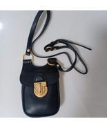 TORY BURCH James Phone Crossbody Bag Womens Leather Mini Shoulder Bag Black - $185.00