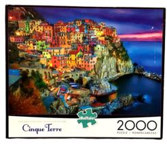 "Buffalo 2000 Pc Jigsaw PUZZLE Cinque Terre ITALY Riviera 38"" X 26"" Poster USA - $59.39"