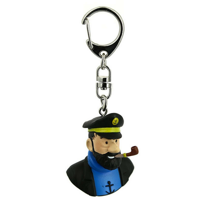 Captain haddock bust plastic key ring Moulinsart  Tintin official product
