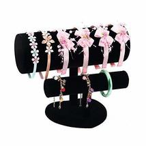 HOMANDA Black Velvet 2 Bars with Heart-Shaped Base Jewelry Bracelet Hair... - $28.44