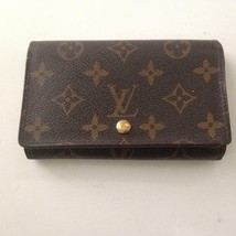 Louis Vuitton, Brown MonoTresor Bi-Fold Zip Wallet 5.5in x 4in (RA0938) - $189.95