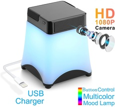 Wi-Fi Desk Lamp with HD 1080P Motion Detection Security Camera - $125.00