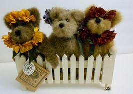 """Boyds Bears Hope Love Joy Bloomin FoB Set 6 1/2"""" Bears in Window Box - $19.79"""
