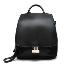 Genuine Leather Convertible Travel Fashion School Flap Backpack Shoulder... - $45.53