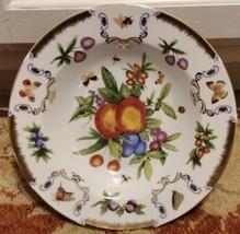 "I.GODINGER & CO. Yorkshire Pattern Soup Bowl 8.5""  Fruit Butterfly Bee Gold image 1"