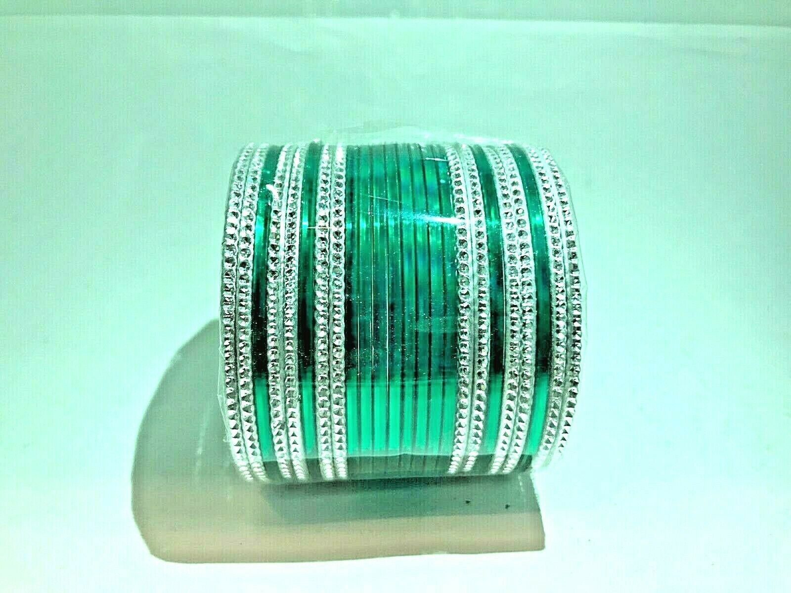 Indian Traditional Bridal Wedding Bangles Size 2.14 Party 24 PS Fashion Jewelry