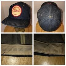 VTG S&DS 1977 USA Denim Hat Crowell Cap Co Snapback Safety Award 70s Wes... - $712.45