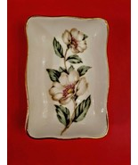 Crown Staffordshire Bone China Trinket Condiment Dish Gold Rim Magnolia ... - $19.78