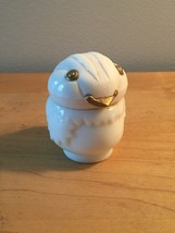 70s Avon Little Snowbird with golden eyes & beak cream sachet bottle (Moonwind)