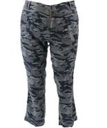 GILI Camo Printed Cargo Pants Zip Pocket Grey 6 NEW A367089 - $22.74