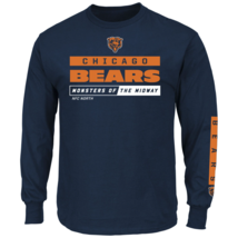 Majestic Men's NFL Primary Receiver Long-Sleeved Tee Bears XL #NIO26-385 - $24.99