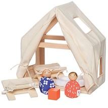 Manhattan Toy MiO Cabin + 2 Bean Bag People Peg Dolls Imaginative Montes... - $34.90