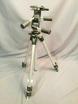 Bogen 3021 Camera Tripod Vintage Manfrotto With 3047 Head Made In Italy - $148.49
