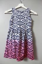 The Children's Place Ombre Blue Purple Dress Sz M 7/8 Sundress Aztec Sum... - $7.85