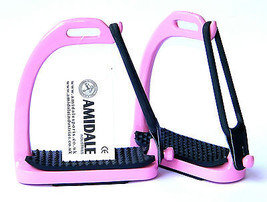 PEACOCK STIRRUPS HORSE RIDING SAFETY IRON FILLIS PINK COLOR BNWT AMIDALE - $22.61+