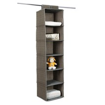 Hanging Closet Organizer Portable Storage Rack ... - $16.13