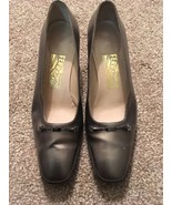 "Womens Silver Ferragamo 1.75"" Heel Shoes, Size 7.5B, Made In Italy! - $75.00"