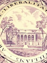 Wedgwood Williams College Dinner Plate Purple THE LIBRARY - $42.24
