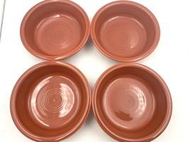Fiestaware contemporary Persimmon medium rimmed cereal bowls x 4 Homer L... - $37.40