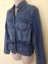 St Johns Bay Womens M Stretch Farmer Field Hiking Denim Jean Shirt Jacket - €9,86 EUR