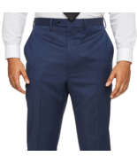 """Shaquille O'Neal XLG Blue Solid Stretch Classic Fit Suit Pants 52""""W X 30... - $49.99"""