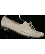 DV by Dolce Vita gray suede laser cut lace cut oxford round toe flats 10... - $29.03