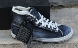 DIESEL Exposure IV W Womens Casual High Top Fashion Sneaker Indigo Size 6 - $74.09