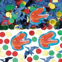 DINOSAUR PREHISTORIC Birthday Confetti Decoration Bag Fillers Party Supp... - $7.69