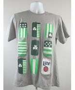 Chi-Rish Miller Lite Beer T Shirt Mens Medium St Pattys Irish  - $21.73